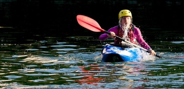 person in kayak